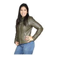 Jaqueta Feminina Couro Courino Cinturada - Ótima Qualidade
