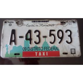 Vendo Placas De Taxi De La Cdmx.