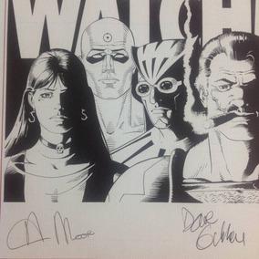 Watchmen Autografado Alan Moore Posteres Ed Limitada Raro