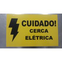 Kit 10 Placas De Sinalização De Cerca Elétrica 17cm X 27cm