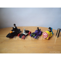 4 Carritos De Juguete Villanos De Batman Gatubela 2caras Md8