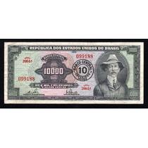 Billete Brasil 10000 Cruzeiros Resellado A 10 Cr Novos P#189