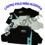 Chemises Polo Para Niño, 100% Algodón Peinado