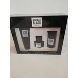 Vintage Black Kenneth Cole Locion 3 Piezas Hombre
