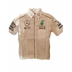 Camisa Escuderia, Carreras, Formula 1, Mercedes 2017 Blanca