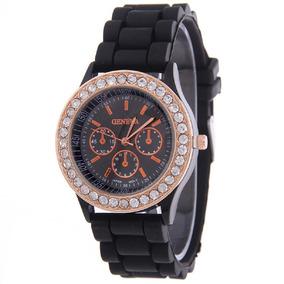Relógio Luxuoso Feminino Geneva Coss Importado Frete Grátis
