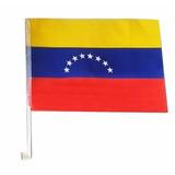 Bandera De Venezuela Para Ventana Vehiculo Importada 44 Cm