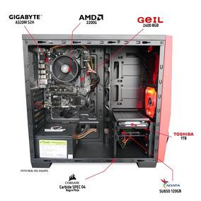 Pc Gamer Amd Ryzen + Vega 2200g 8gb 1tb Ssd 120gb