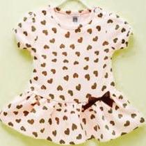 Vestido Festa Bebe Criança Onça Verão Moda Fresquinho Lindo
