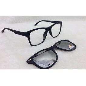 14414f625be9c Armação De Óculos P  Grau E Sol Clip On 2 Em 1 S026