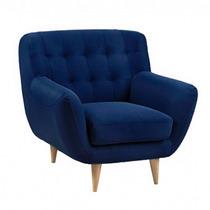Sillón Eggert Escandinavo Azul Muebles Morph