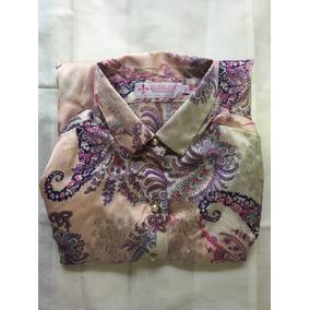 Camisa Estampada Feminina Dudalina Original Tamanho 42