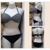 Traje De Baño Bikini Con Top Torcido Dos Piezas
