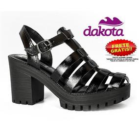 Sandália Dakota Z3542 Tratorada Feminina Follow Preto Z2404