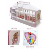 Berço Boneca Infantil Cômodas Mosquiteiro Brinquedos Reborn