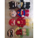 Batman Robin Flash Superman Amigurumis Crochet Tejido