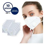 Cubrebocas N95 Válvula Filtro Mascarilla Kn95 10 Piezas