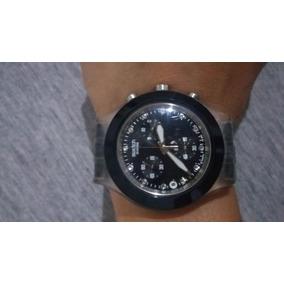 Relógio Original Swatch Swiss Diaphane Preto - Feminino