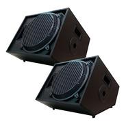 Kit 2 Caixa Retorno Palco Music Way 450w Rms Plug P10