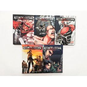 Manga, Kodansha, Pack Attack On Titan 1-5