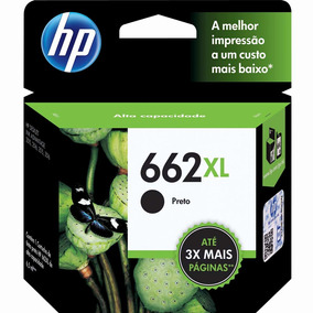 Cartucho Hp 662 Xl Preto 20ml Alto Rendimento