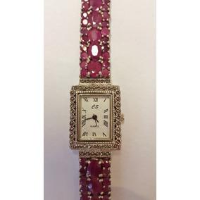 Sensacional Relógio Em Prata Com Rubis Orientais Legítimos!!