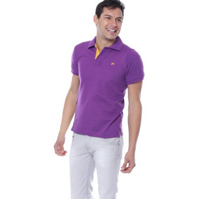 Hang Ten Polo Con Doble Boton, Originales, Color Violeta