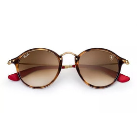 ea681b46d85 Ver mais Ray-Ban Round Metal RB3447 · Oculos De Sol Rb2447nm Scuderia  Ferrari Collection 50%off