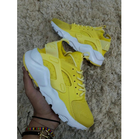 huarache amarillas mujer