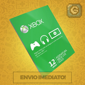 Xbox Live Gold Br Brasil Brasileira Usa Cartão 12 Meses
