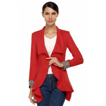Tsuki Moda Asiatica: Blazer Saco Slim Irregular Sexy Formal