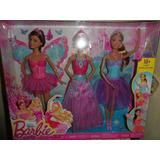 3 Muñecas Barbie 18 Estilos De Moda Mattel