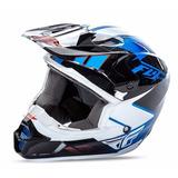 Capacete Fly Kinetic Infantil Motocross E Bicicross Azul