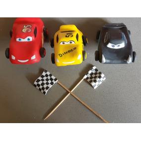 Adorno De Torta Cars 3. Rayo Mcqueen, Jackson Storm, Cruz Ra