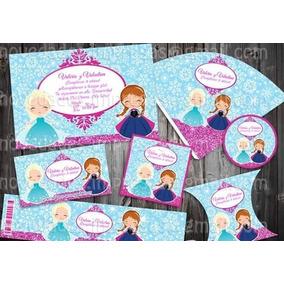 Kit Imprimible Frozen Bebes Etiquetas Candy Postres