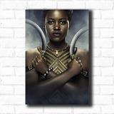 Placa Decorativa Filme Pantera Negra Personagem Nakia Mdf