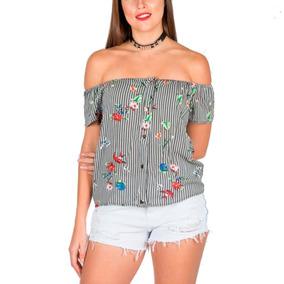 Blusa Estampada Con Botones M / L Adaptable 12s/rec 1750