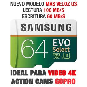 Samsung Evo Select 64gb 100mb/s Celular Uhd 4k U3 Gopro