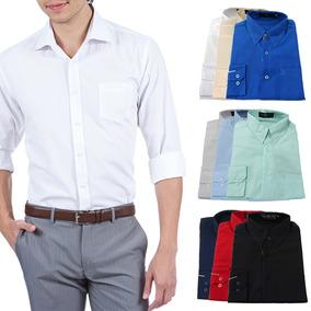 Camisa Social 100% Microfibra - Diversas Cores