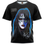 Camiseta Kiss Ace Frehley Solo Autografado End Of The Road