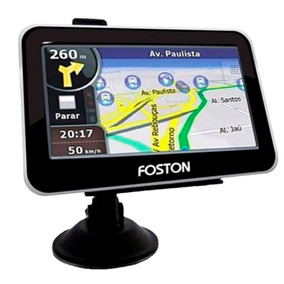Gps Automotivo Foston 3d 463 Tela 4,3 Rastreador De Radar