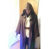 Star Wars Combo Traje Jedi Completo + Sable Obi Wan Cosplay