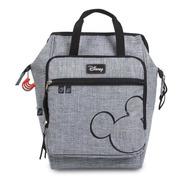 Mochila Baby Bag Casual Luxo Mickey Cinza C/ Trocador Disney