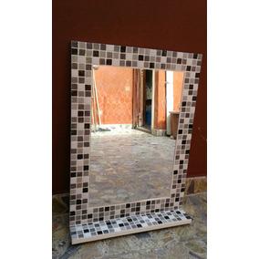 Espejo Venecitas 80x60 +estante.diseño Y Decoracion Baño.