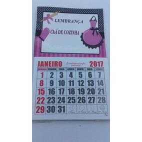50 Mini Calendários Personalizado Imã Geladeira Ano 2018
