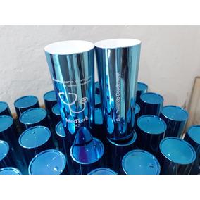 Copo Personalizado Azul Metalizado 350 Ml - 20 Unid