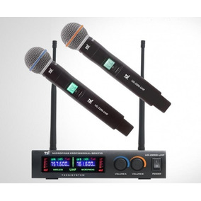 Microfone Sem Fio Duplo Tsi Ud 2200 Uhf - Mega Shopping