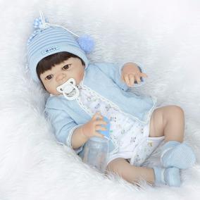 Bebê Reborn Silicone Barato Menino Piloto Frete Grátis 55cm