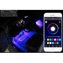 Kit Ambiental Interior Auto, Rgb Via Celular Bluetooth