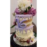 Torta Naked O Drip Cake Matrimonio Cumpleaños